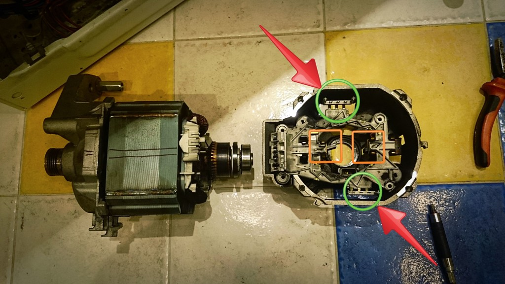 Замена щеток в двигателе Bosch